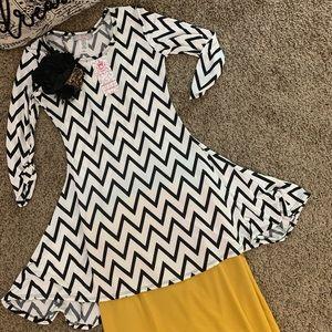 Adorable girls chevron tunic/dress